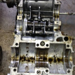Lots of unknown crud in the bottom crankcase.