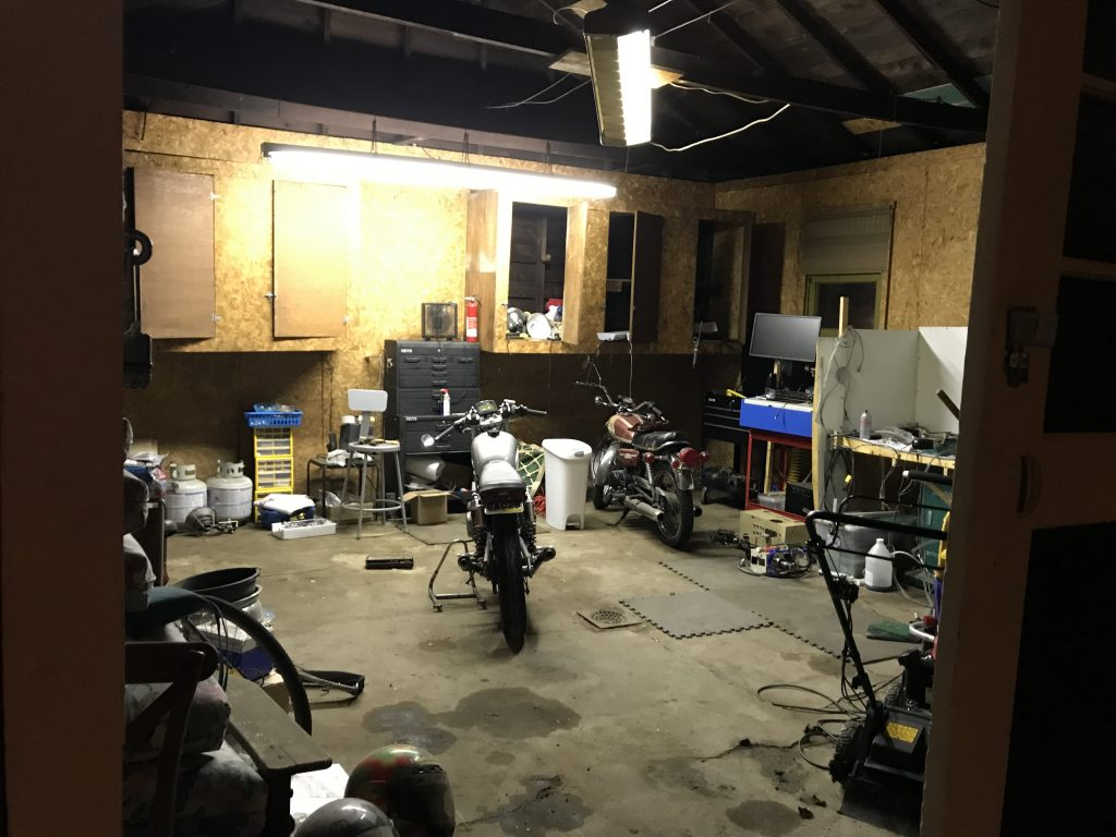 Garage interior as it stands currently.