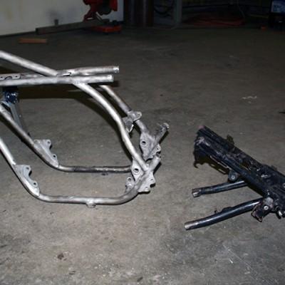 Frame dismantled.