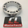 Brake spacer to adapt and RD350 hub to FZR forks and brake rotor.